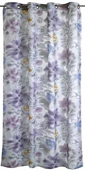 Cortina Giverny 138x290 gris